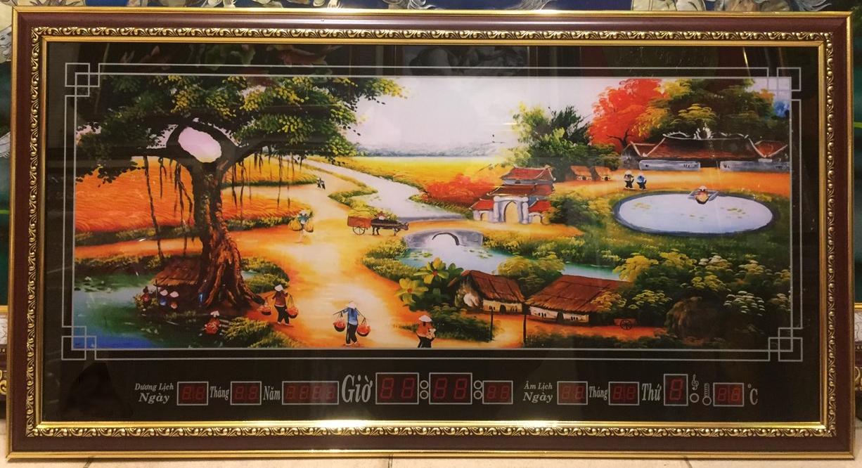 Tranh lịch vạn niên, Quê Hương – 8614
