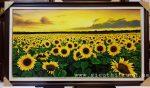 Tranh sơn dầu, cánh đồng hoa Hướng Dương -S243