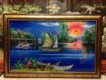 Tranh sơn mài khảm trai, Vịnh Hạ Long- SM201