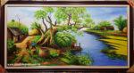 Tranh sơn dầu, Đồng Quê Bắc Bộ – S244