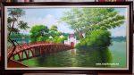 Cầu thê hức ,tranh sơn dầu -S250