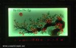 Mai khai phú quý,Tranh lịch thêu đèn led -2068