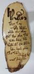 Tranh gỗ thư pháp bút lửa, NHẫn -TG167