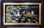 Mã đáo thành công, tranh đồng mạ vàng bạc -A188