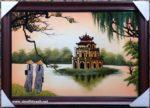 Tranh sơn mài, Hồ Gươm thơ mộng- SM265