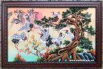 Phú quý cát tường, tranh sơn mài- SM267