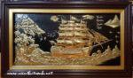 Tranh đồng mạ vàng,Thuận Buồm Xuôi Gió A186