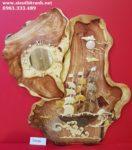 Tranh gỗ hương Thuyền ra khơi TG201