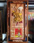Đốc lịch gỗ treo tường, Hoa Cúc -TG179