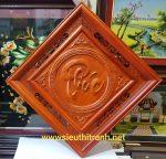 Chữ Phúc,Tranh gỗ hương đục nổi TG186