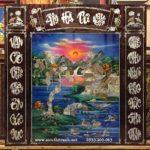 Tranh thờ sơn mài khảm trai, Ẩm Hà Tư Nguyên -SM278