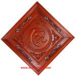 Chữ Lộc,Tranh gỗ hương đỏ TG185