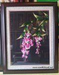 Tranh thêu tay, hoa lan-T012