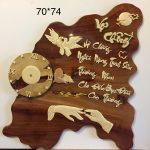 Thư pháp Vợ Chồng ,gỗ hương -TG218