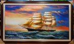 Tranh sơn dầu, Thuận Buồm Xuôi Gió S254