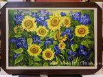 Tranh sơn dầu,hoa hướng dương S255