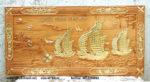 Thuận buồm xuôi gió mạ vàng, gỗ gõ đỏ -TG236