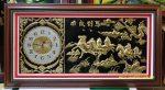 Tranh đồng ,Đồng hồ Bát Mã -A140