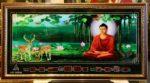 Tranh lịch vạn niên, Phật thích ca ngồi thiền- MS647