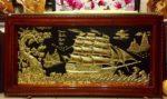 Tranh đồng thuyền buồm phong thuận ,A202