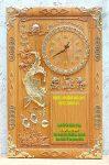 Tranh gỗ gõ đỏ đốc lịch Cá chép vác vàng -TG233