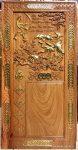 Tranh đốc lịch gỗ gõ đỏ, Cha Mẹ -TG244