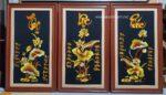 Tranh thêu thư pháp. Phúc Lộc Thọ-F165