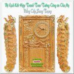 Đốc lịch gỗ gõ đỏ điêu khắc , Cha Mẹ – TG252