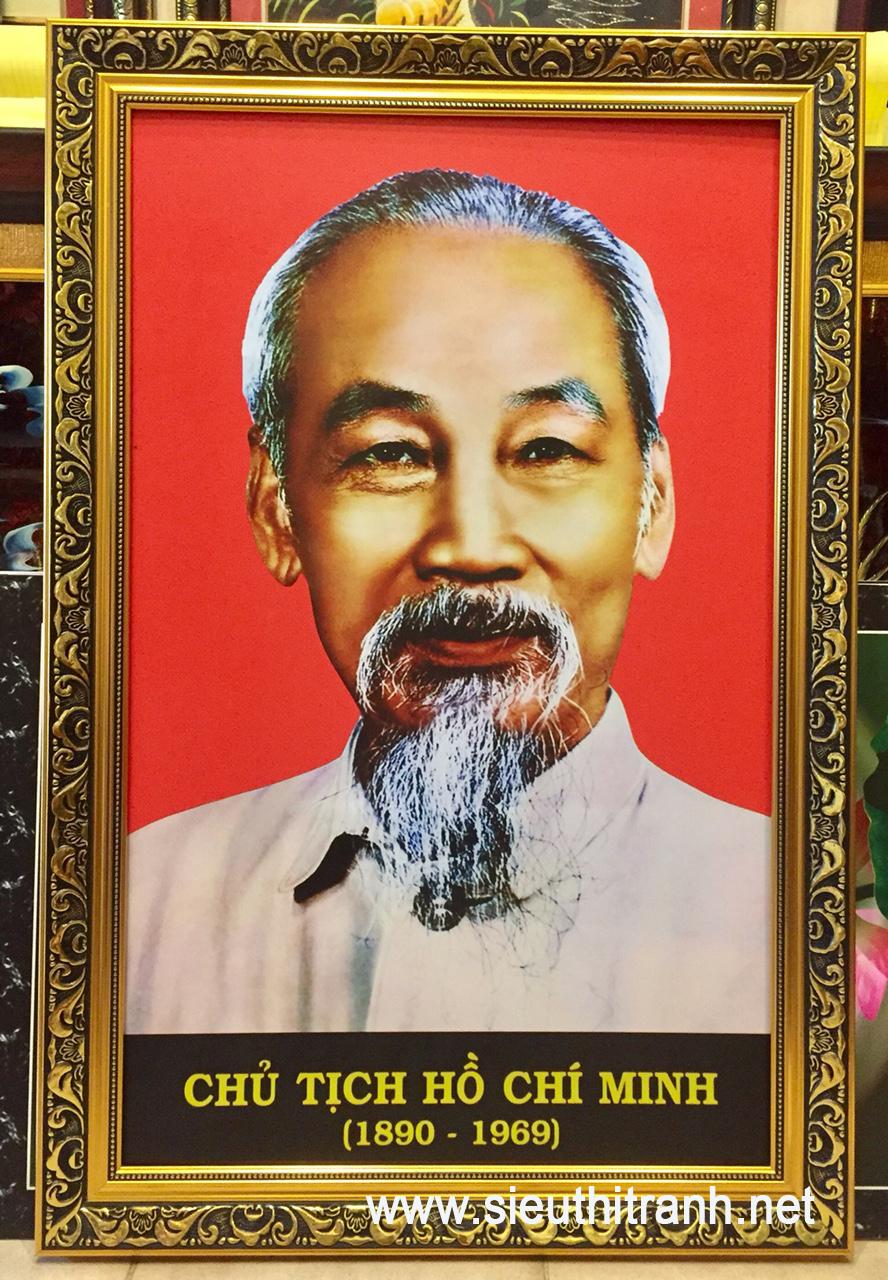 Tranh chân dung Chủ tịch Hồ Chí Minh ( in dầu IN094 )