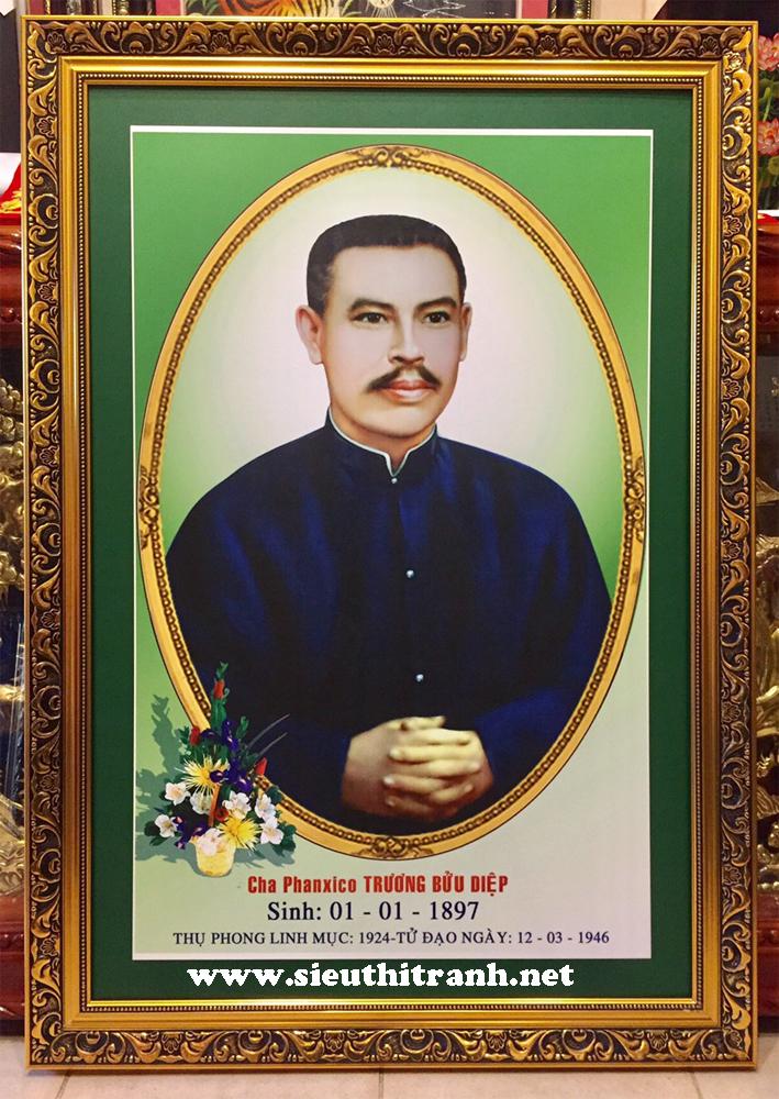 Tranh in dầu, Cha phanxico Trương Bửu Diệp -C08