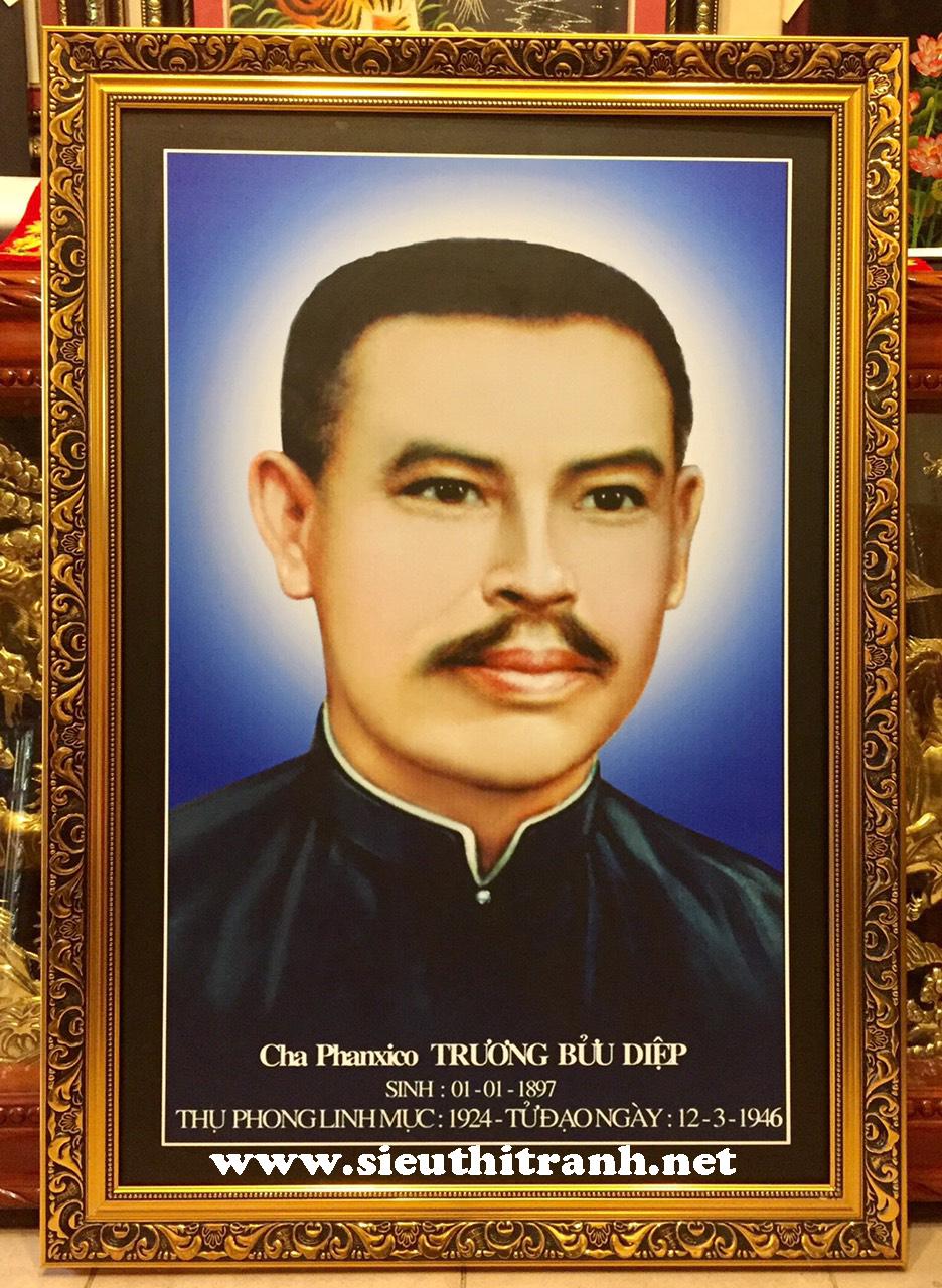 Cha phanxico Trương Bửu Diệp ( tranh in dầu C09)