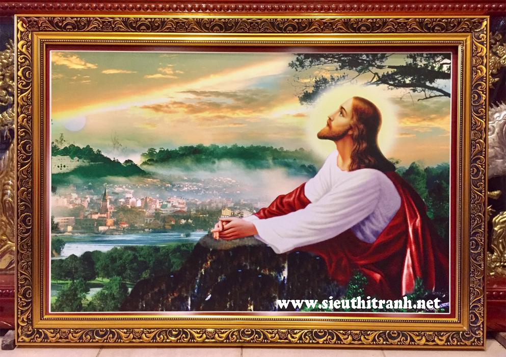 Tranh in dầu, Giesu cầu nguyện -C10