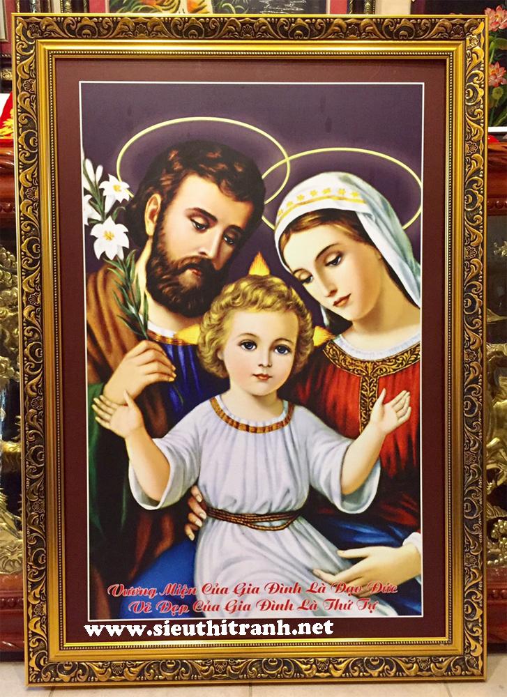 Tranh in dầu, Gia đình thánh gia -C15