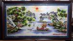 Tranh thêu tay T180-Thuận buồm xuôi gió