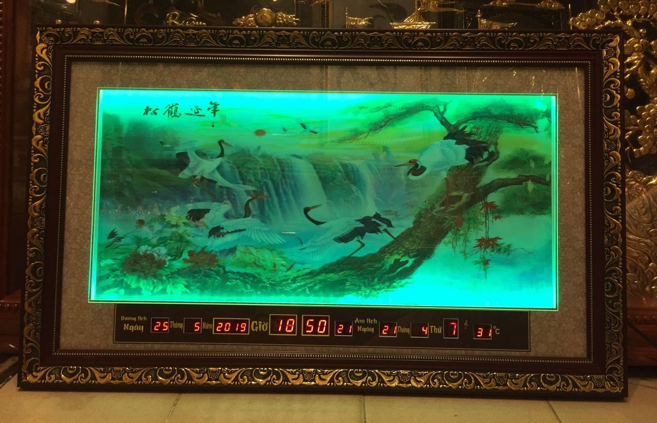 Tranh đèn led 3D, tùng hạc diên niên – 2083