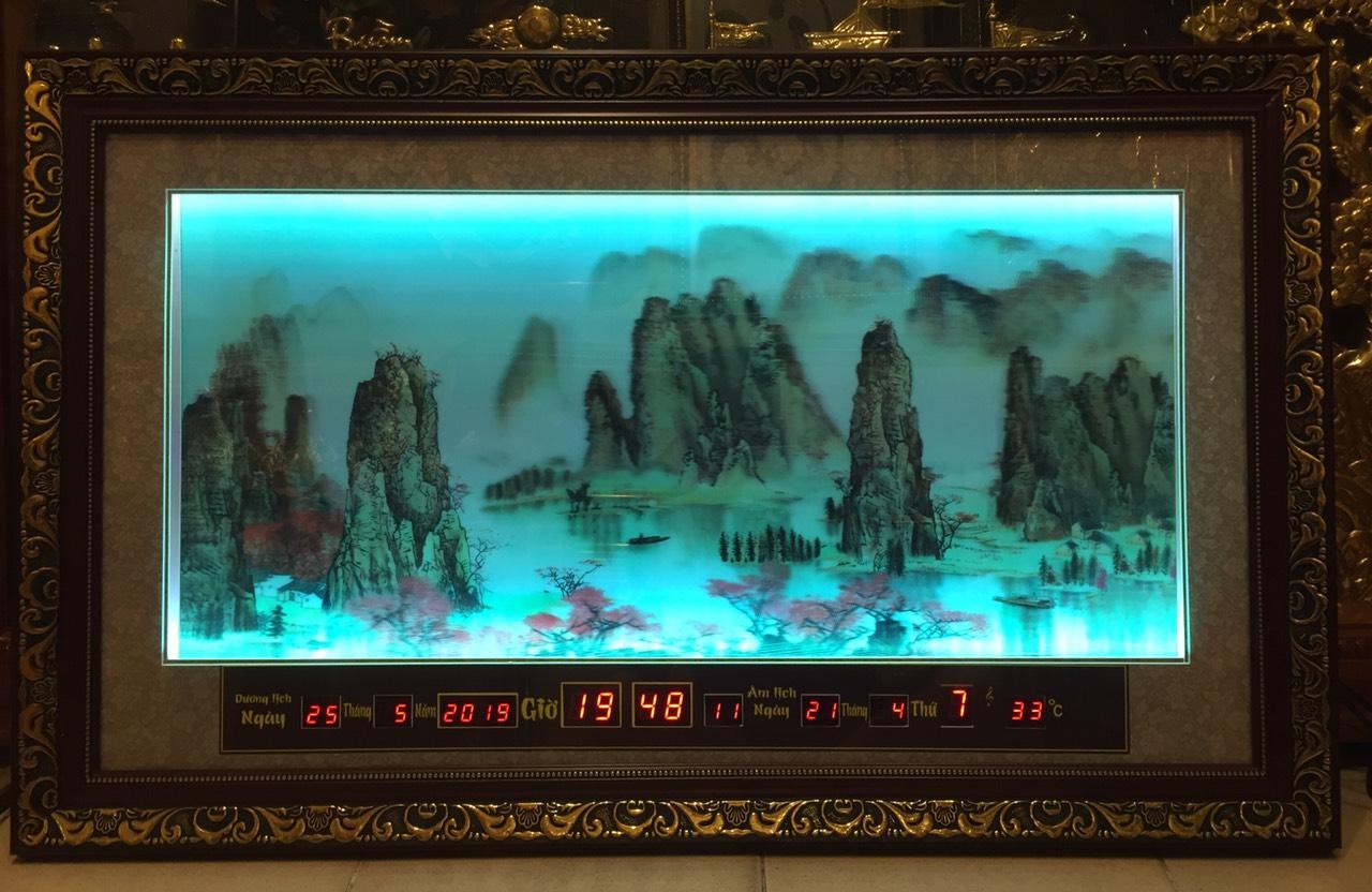 Tranh đèn led 3D, sơn thủy hữu tình -2084