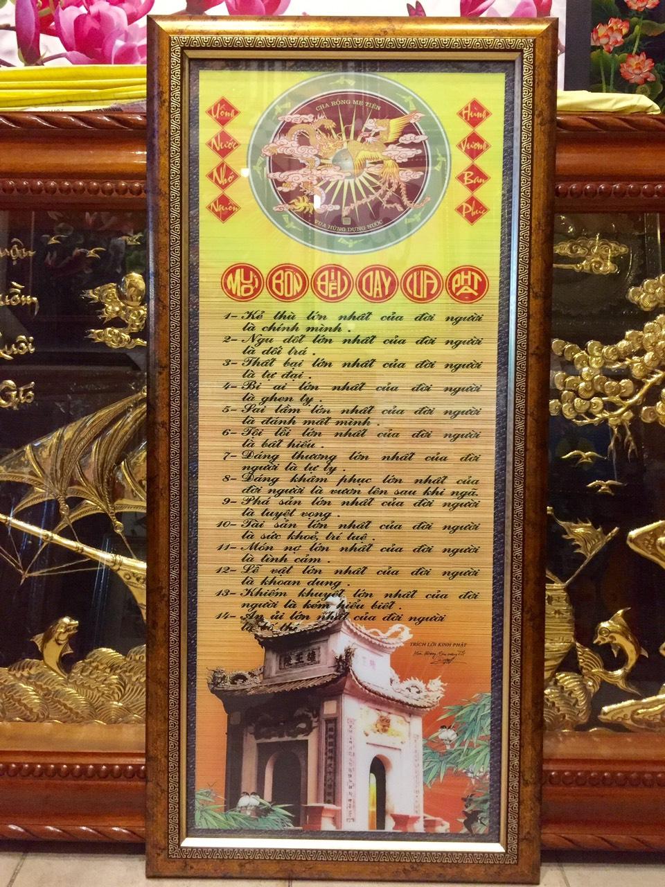 Tranh 14 điều Phật dạy -IN097