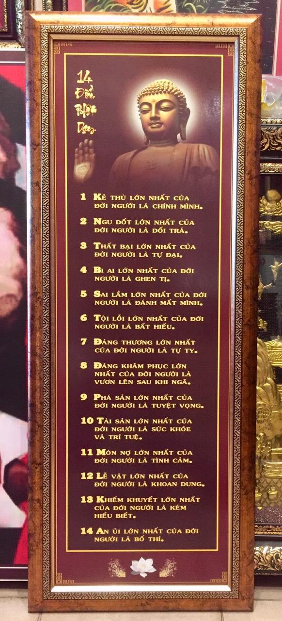 Tranh 14 lời dạy của  Đức Phật -IN099