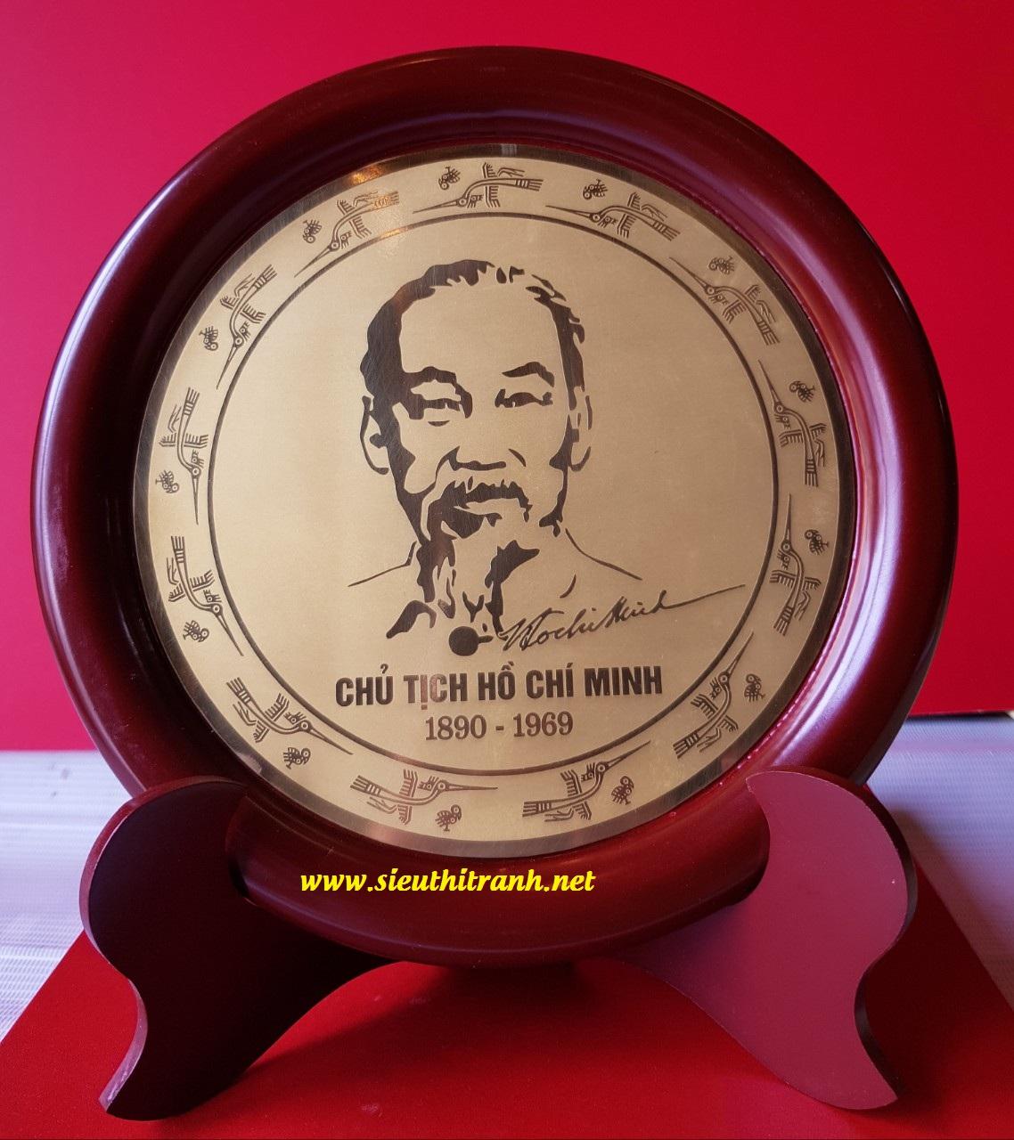 Quà tặng đĩa để bàn, Chân Dung Hồ Chủ Tịch-QT08