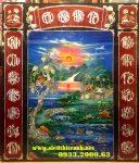 Tranh thờ sơn mài khảm trai, Cửu Huyền Thất Tổ -SM303