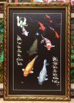 Tranh in dầu cá côi Lộc phát – L20