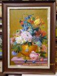 Tranh sơn dầu TV23-Tĩnh vật hoa