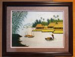 Tranh thêu tay – Phong Cảnh Quê Sông Nước -T001