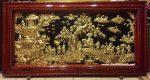 Tranh đồng tấm liền khung gỗ, Vinh Quy Bái Tổ- A058