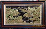 Phong cảnh sơn thủy hữu tình -Đồng vàng nguyên chất -A228