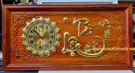 Tranh đồng hồ gỗ hương chữ thư pháp – Tài Lộc – TG282