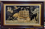 Tranh đồng mạ vàng 24k-Thuận Buồm Xuôi gió – A187b