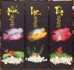 Bộ tranh 3 bức cá Lá Hán PLT – IN125