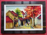 Phố Cổ Hà Nội -Tranh vẽ sơn mài -sm311