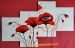 Tranh sơn mài bộ hoa hiện đại-HD009